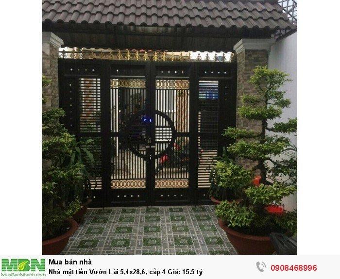 Nhà mặt tiền  Vườn Lài 5,4x28,6, cấp 4 Giá: 15.5 tỷ