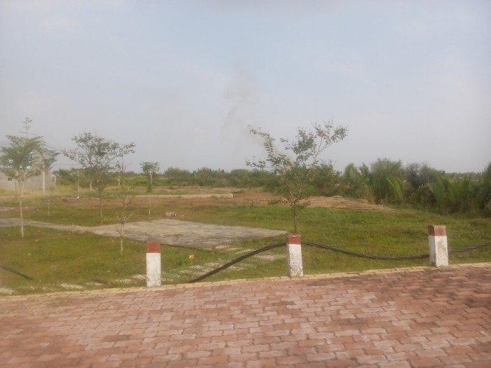 Đất thổ cư Ngã 4 Long Hậu đường nhựa 12m, điện âm giá chỉ 685tr/100m2 ngân hàng hỗ trợ vay 70%