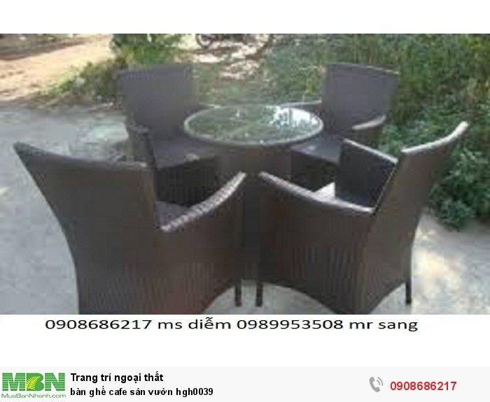 Bàn ghế cafe sân vườn hgh00390