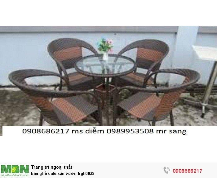 Bàn ghế cafe sân vườn hgh00391