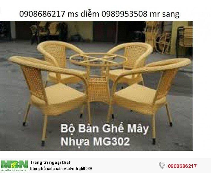 Bàn ghế cafe sân vườn hgh00392