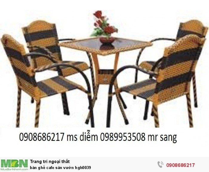 Bàn ghế cafe sân vườn hgh00393