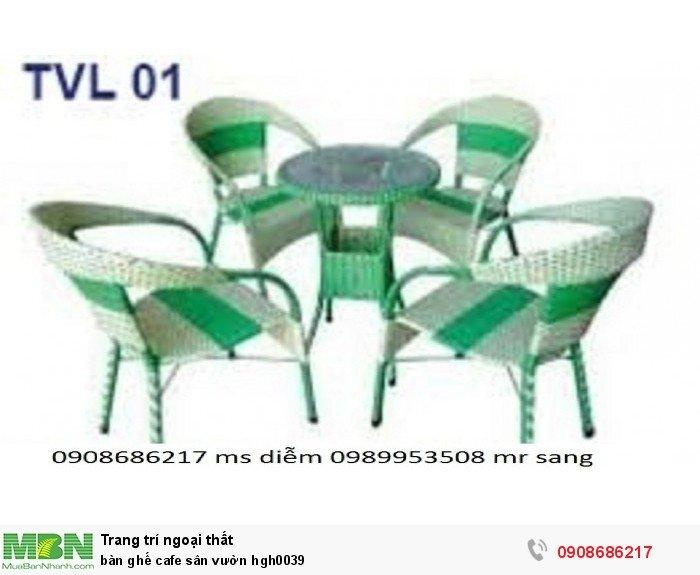 Bàn ghế cafe sân vườn hgh00395