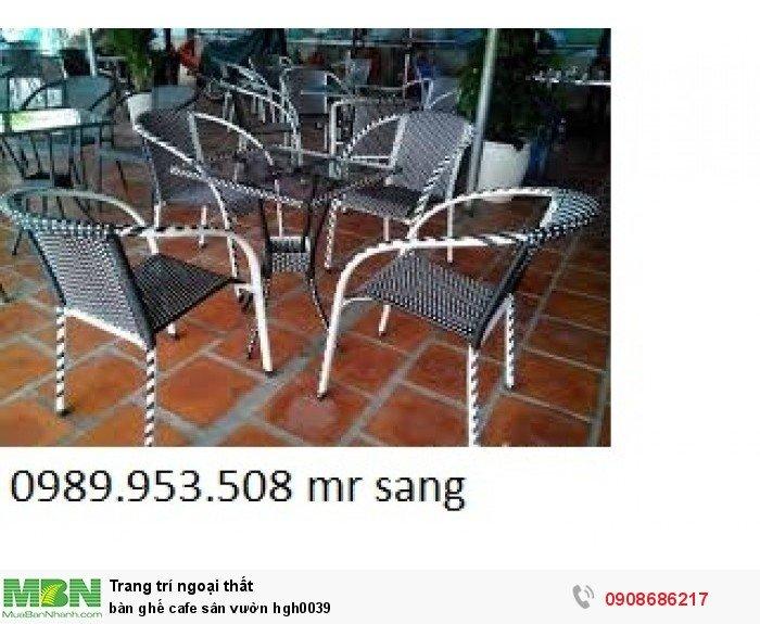 Bàn ghế cafe sân vườn hgh00396