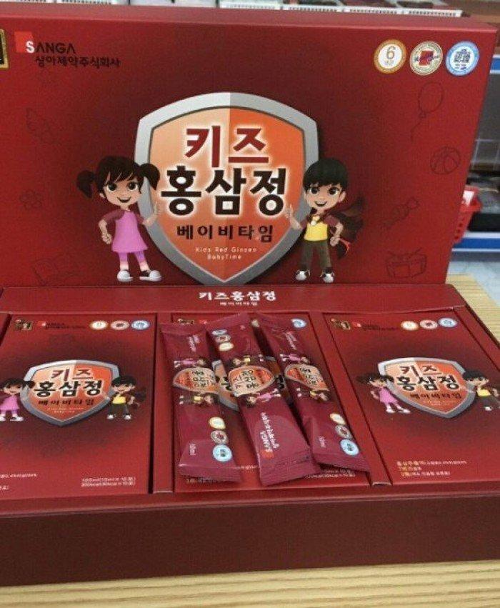 Chuyên cung cấp giá sỉ , lẻ NƯỚC HỒNG SÂM TRẺ EM SANGA HỘP 30 TÚI chính hãng Hàn Quốc1
