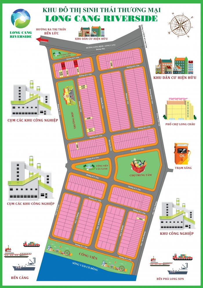 Mở bán KĐT sinh thái Long Cang riverside giá chỉ 350tr/nền giá tốt cho nhà đầu tư.