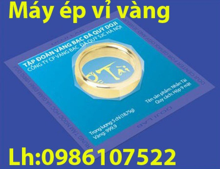 Máy ép vỉ vàng,ép khuôn nhẫn tròn1