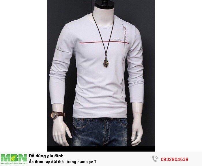 Áo thun tay dài thời trang nam sọc T