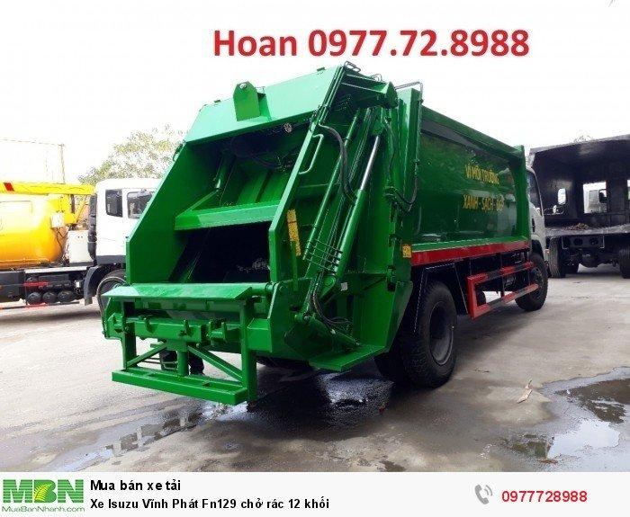 Xe Isuzu Vĩnh Phát Fn129 chở rác 12 khối