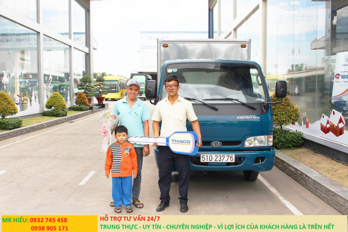 Giá xe tải thaco kia k165s tải trọng 2t4, 2t3. Đời mới 2017 hỗ trợ trả góp lãi sất ưu đãi