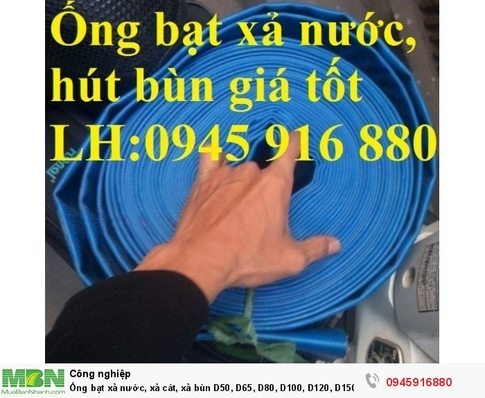 Ống bạt xả nước, xả cát, xả bùn D50, D65, D80, D100, D120, D150, D200 giá tốt6
