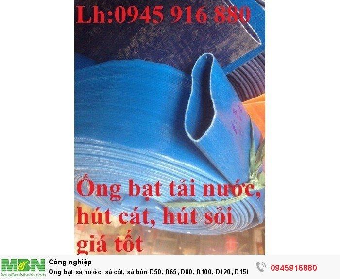 Ống bạt xả nước, xả cát, xả bùn D50, D65, D80, D100, D120, D150, D200 giá tốt10