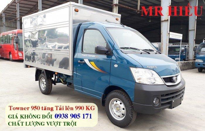 Xe tải Thaco TOWNER 990 xe đời 2017, chuẩn EURO 4. Trả góp lãi thấp, ra số giao xe toàn quốc