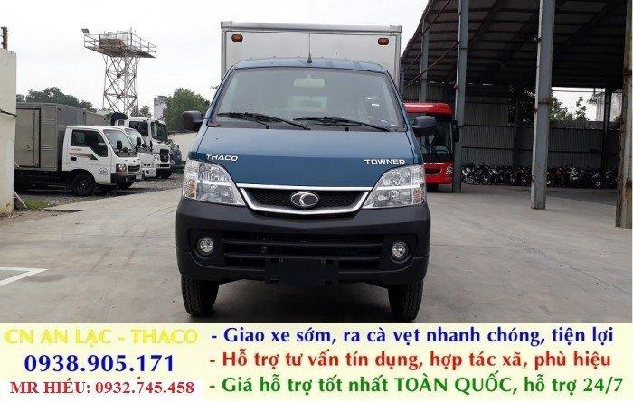 Xe tải Thaco TOWNER 990 xe đời 2017, chuẩn EURO 4. Trả góp lãi thấp, ra số giao xe toàn quốc 4