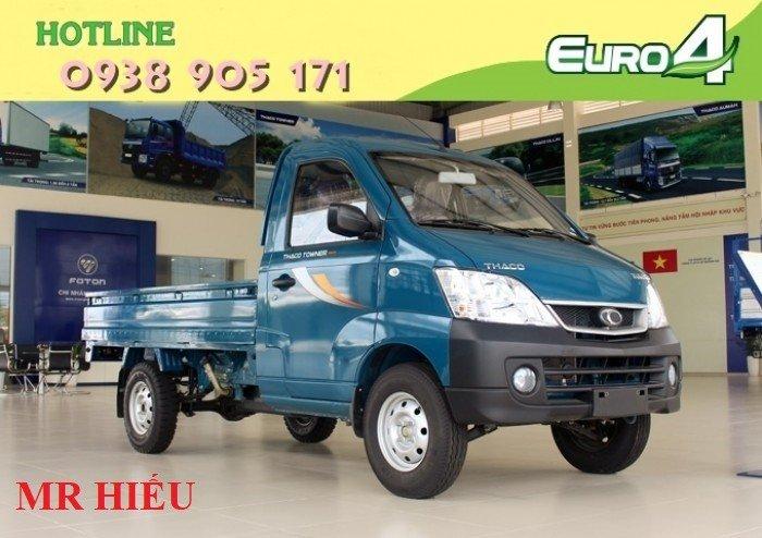 Xe tải Thaco TOWNER 990 xe đời 2017, chuẩn EURO 4. Trả góp lãi thấp, ra số giao xe toàn quốc 5
