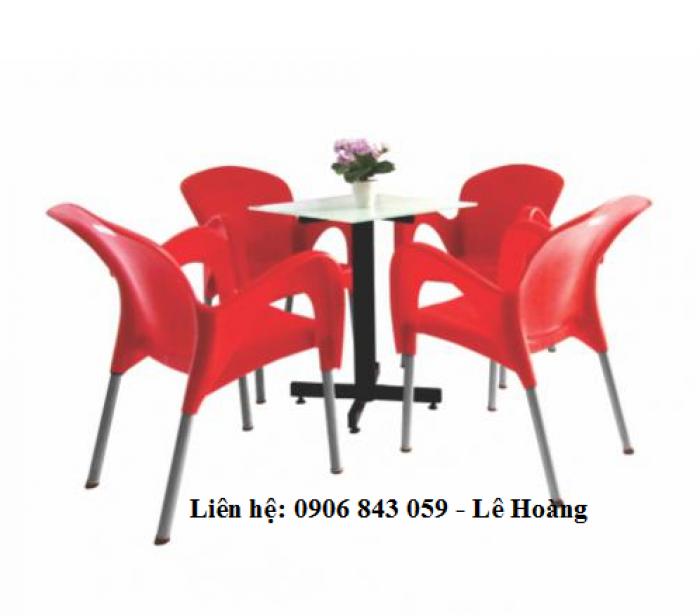 Bàn ghế nhựa nữ hoàng, kinh doanh cà phê, màu đỏ, nhiều mẫu bàn kết hợp - Liên hệ: 0906843059 (24/24)1