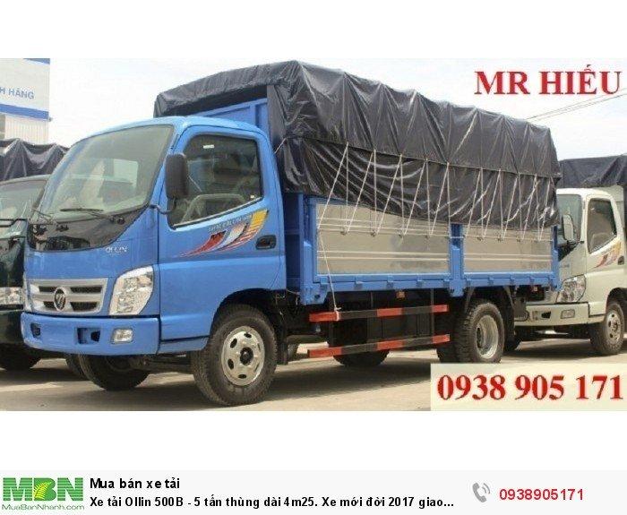 Xe tải Ollin 500B - 5 tấn thùng dài 4m25. Xe mới đời 2017 giao sớm. Hỗ trợ với 100 triệu nhận xe sử dụng