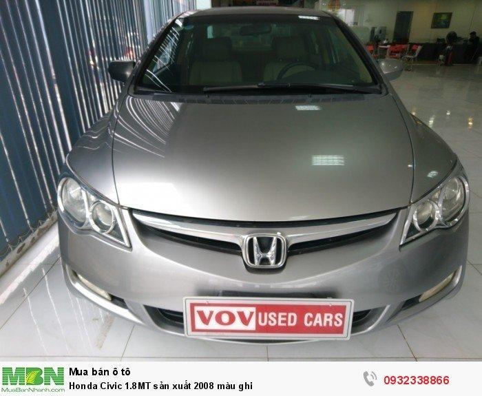 Honda Civic 1.8MT sản xuất 2008 màu ghi