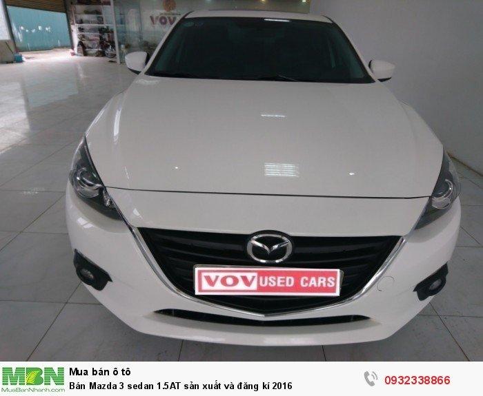 Bán Mazda 3 sedan 1.5AT sản xuất và đăng kí 2016 0