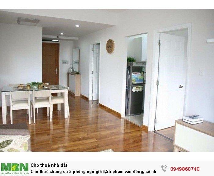 Cho thuê chung cư 3 phòng ngủ giá 6,5tr phạm văn đồng, cổ nhuế
