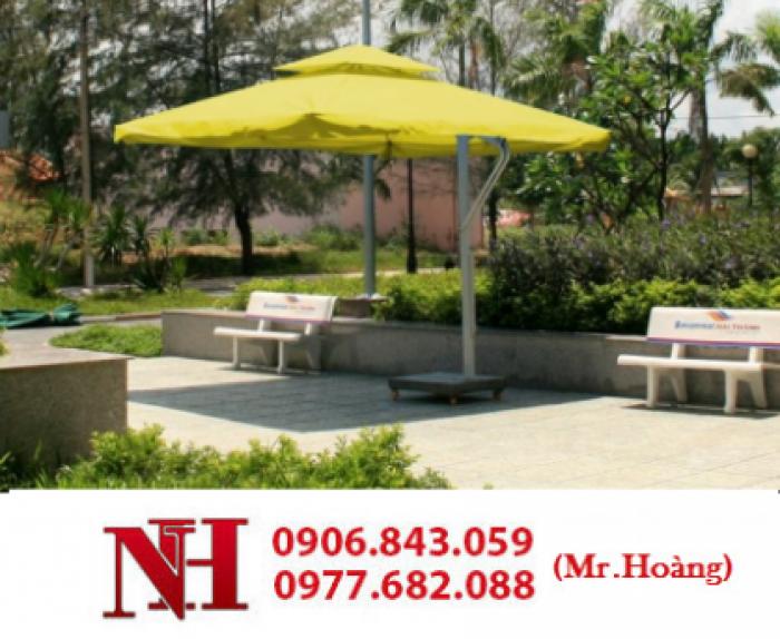 Dù vuông, màu vàng cho kinh doanh quán cà phê, resort. Liên hệ: 0906843059 Lê Hoàng0