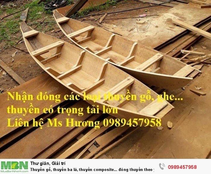 Thuyền ba lá, thuyền composite, thuyền gỗ, Thuyền chèo tay cho 2 người0