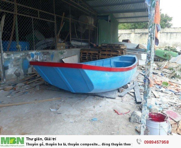 Thuyền gỗ, thuyền ba lá, thuyền composite... đóng thuyền theo yêu cầu