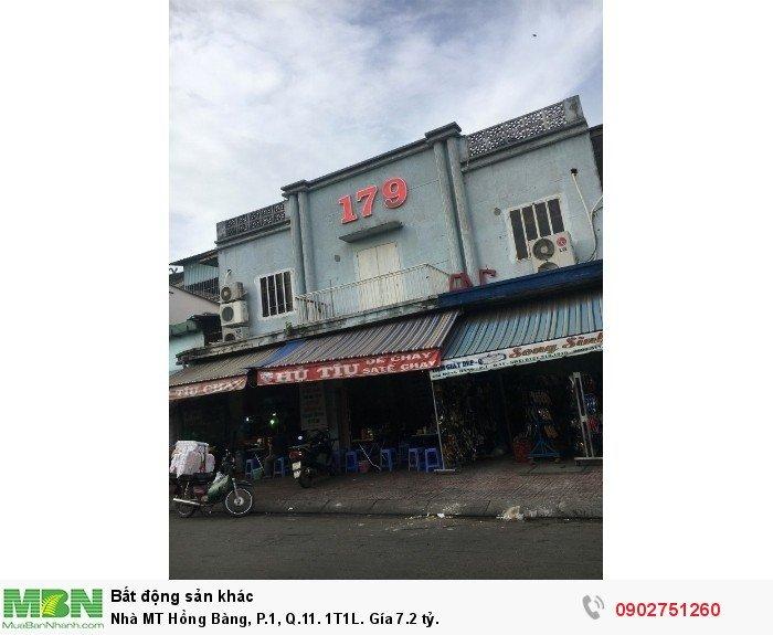 Nhà MT Hồng Bàng, P.1, Q.11. 1T1L