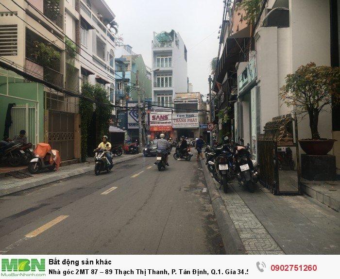 Nhà góc 2MT 87 – 89 Thạch Thị Thanh, P. Tân Định, Q.1