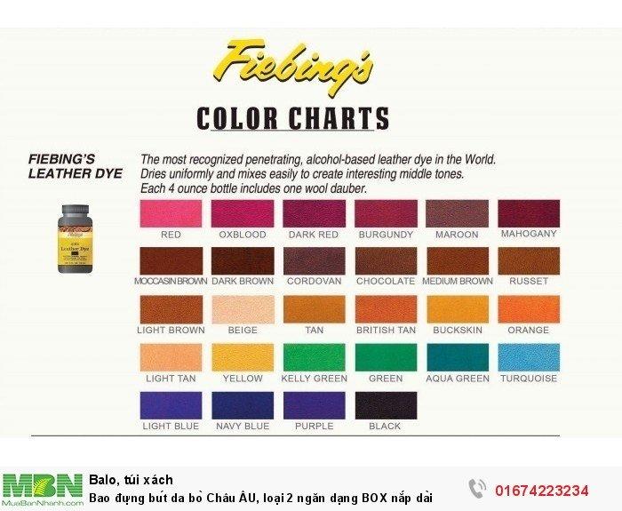 Bảng màu của hãng fiebing đến từ nước mỹ5