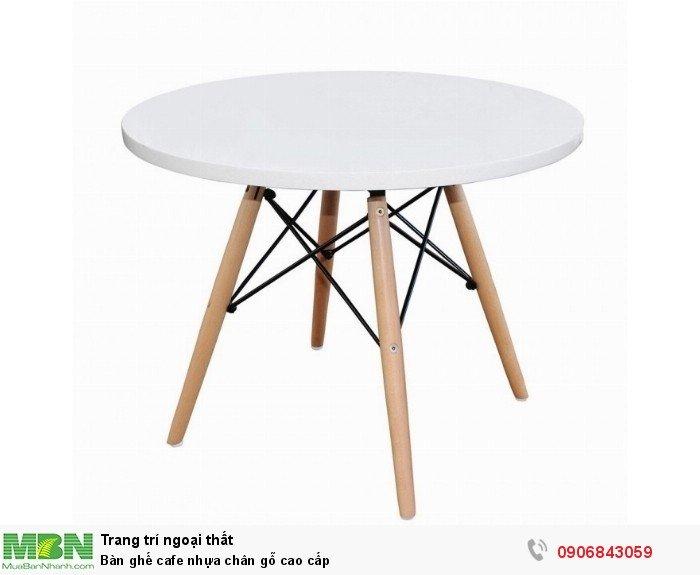Bàn ghế cafe nhựa chân gỗ cao cấp. Liên hệ: 0906843059 Lê Hoàng (24/24)0