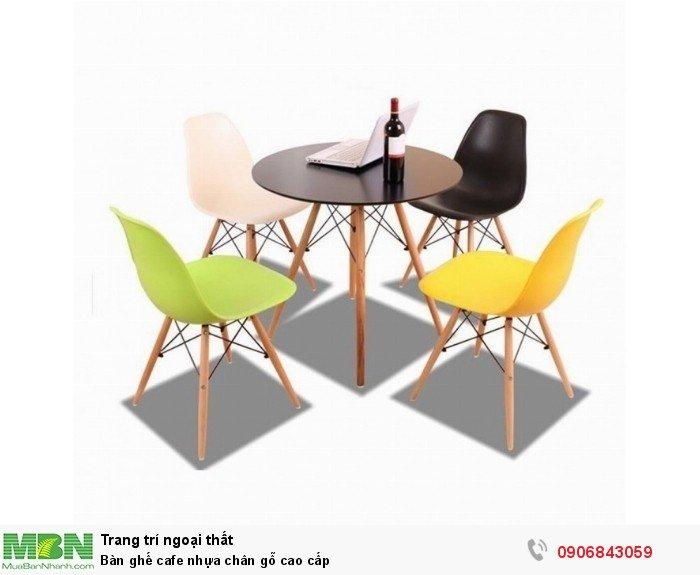 Bàn ghế cafe nhựa chân gỗ cao cấp, đủ màu sắc, miễn phí vận chuyển. Liên Hệ: 0906843059 Lê Hoàng (24/24)1