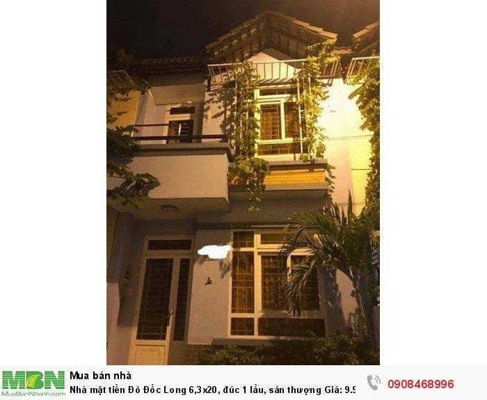 Nhà mặt tiền Đô Đốc Long 6,3x20, đúc 1 lầu, sân thượng