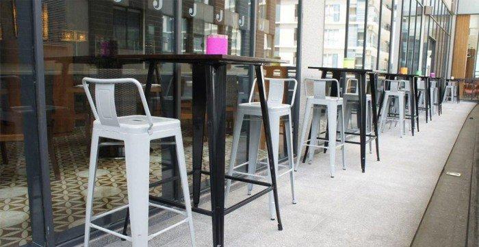 Ghế Tolix Bar cafe có lưng tựa3