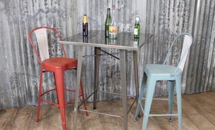 Ghế Tolix Bar cafe có lưng tựa4