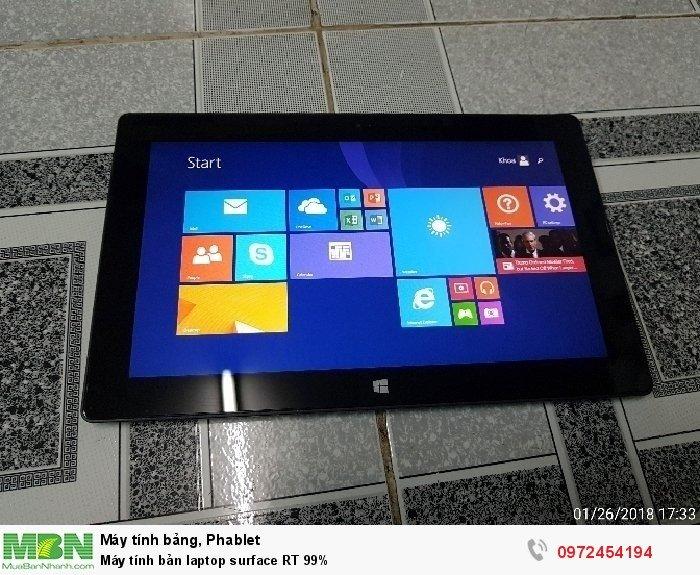 Máy tính bảng laptop surface RT 99%1