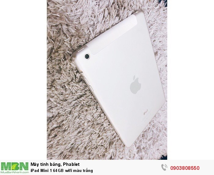 IPad Mini 1 64GB wifi màu trắng0