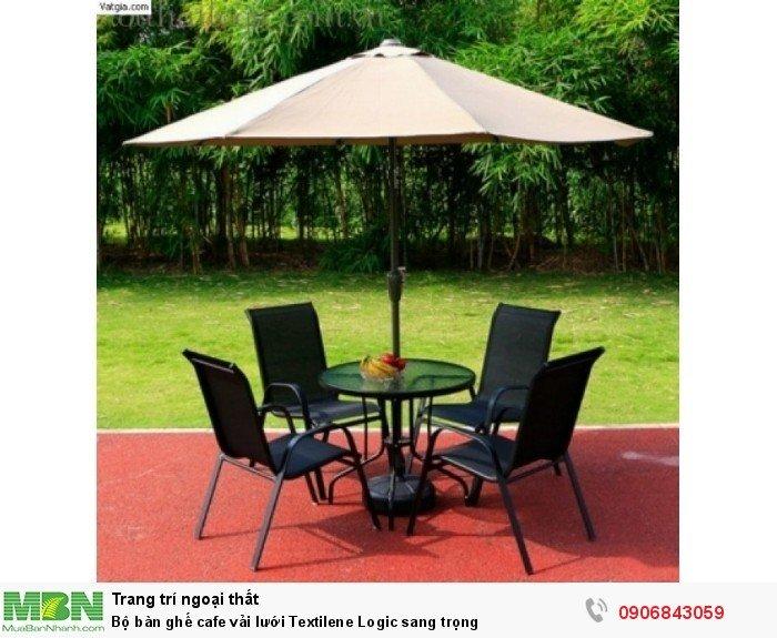 Bộ bàn ghế cafe vải lưới Textilene Logic sang trọng. Liên hệ: 0906843059 Lê Hoàng (24/24)0