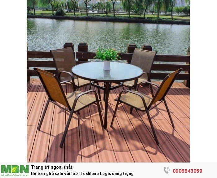 Bộ bàn ghế cafe vải lưới Textilene Logic sang trọng. Miễn phí vận chuyển.1