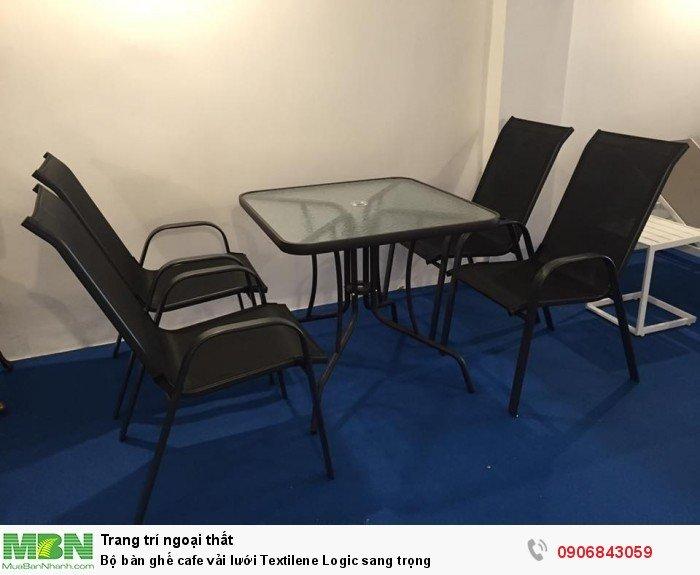 Bộ bàn ghế cafe vải lưới Textilene Logic sang trọng3