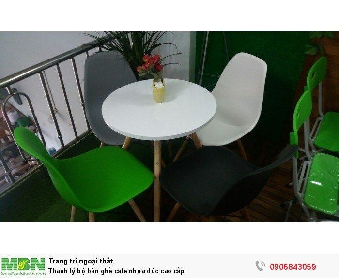 Thanh lý bộ bàn ghế cafe nhựa đúc cao cấp. Giao hàng toàn quốc. Liên hệ: 0906843059 Lê Hoàng (24/24)1