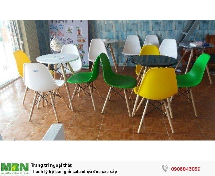 Thanh lý bộ bàn ghế cafe nhựa đúc cao cấp. Miễn phí vận chuyển. Liên hệ: 0906843059 Lê Hoàng (24/24)2