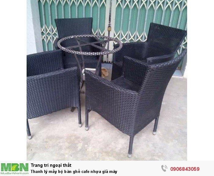Thanh lý mấy bộ bàn ghế cafe nhựa giả mây. Liên hệ: 0906843059 Lê Hoàng (24/24)0