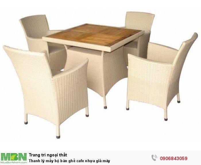 Thanh lý mấy bộ bàn ghế cafe nhựa giả mây, miễn phí vận chuyển. Liên hệ: 0906843059 Lê Hoàng (24/24)1