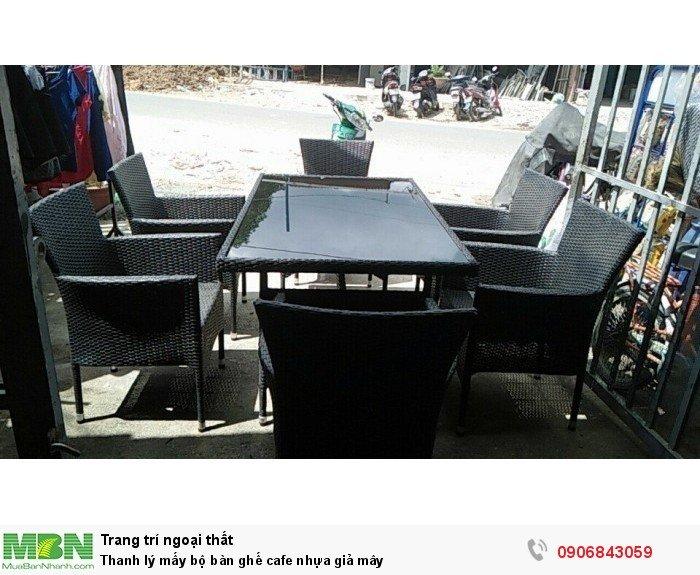 Thanh lý mấy bộ bàn ghế cafe nhựa giả mây. Giao hàng toàn quốc. Liên hệ: 0906843059 Lê Hoàng (24/24)2