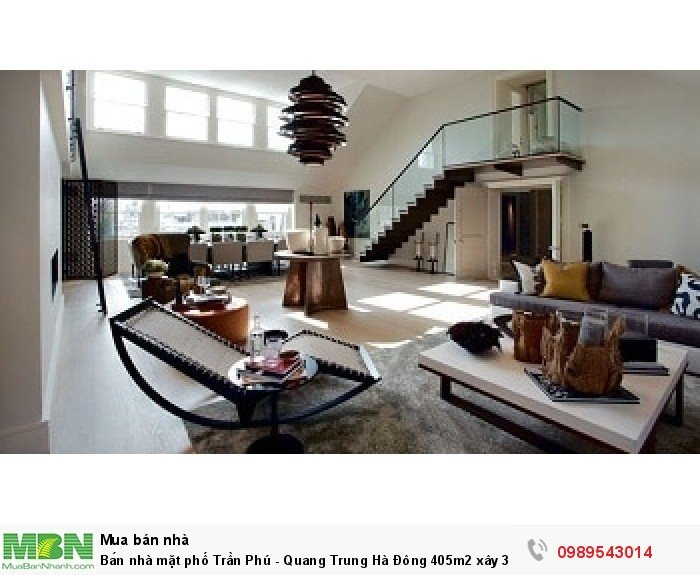 Bán nhà mặt phố Trần Phú - Quang Trung Hà Đông 405m2 xây 3 Tầng