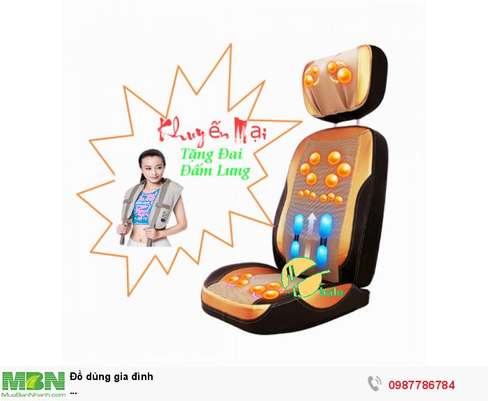 Ghế Đệm Massage Nhật Bản Neck 5D New (Tặng Đai massage đấm lưng)