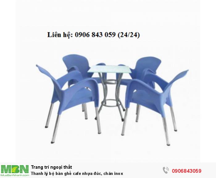 Thanh lý bộ bàn ghế cafe nhựa đúc. Miễn phí vận chuyển. Liên hệ: 0906843059 Lê Hoàng (24/24)1