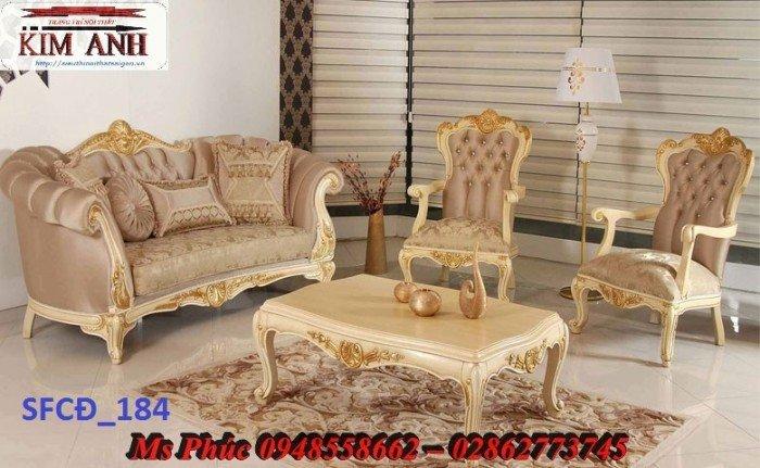 Sofa tân cổ điển phòng khách ms SFCĐ_207 màu hồng pastel giá ưu đãi18