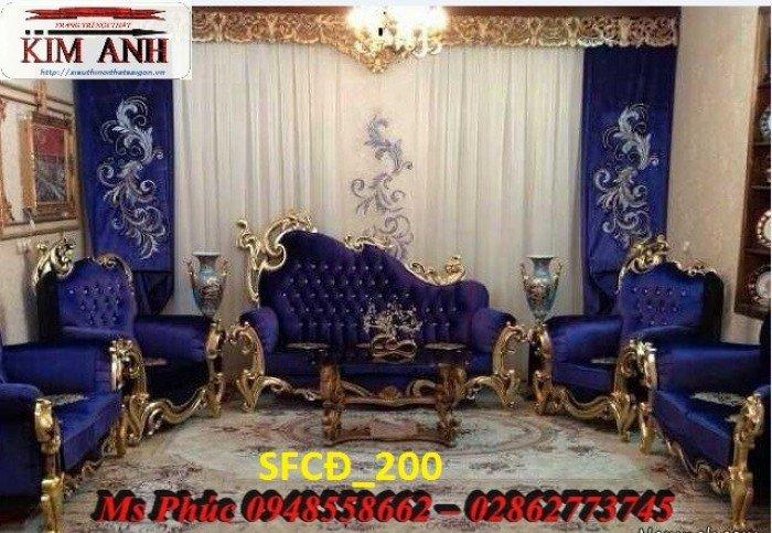 Sofa tân cổ điển phòng khách ms SFCĐ_207 màu hồng pastel giá ưu đãi6